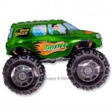 Jumbo Green Big Wheels Monster Truck Shape Balloon