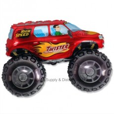 Jumbo Red Big Wheels Monster Truck Shape Balloon