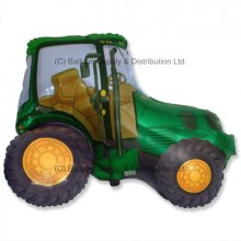 XL Jumbo Green Tractor Shape Balloon