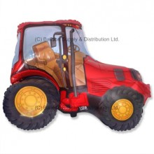 XL Jumbo Red Tractor Shape Balloon