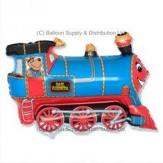 Jumbo Blue Train Shape Balloon