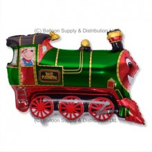 »BULK ORDER ONLY:  Jumbo Green Train Shape Balloon