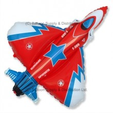 XL Jumbo Superfighter Red Shape Balloon