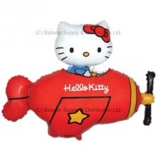 XL Jumbo Hello Kitty Red Plane Shape Balloon
