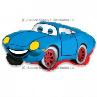 Jumbo Blue Racer Car Shape Balloon