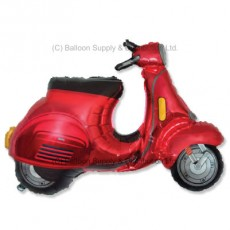 Jumbo Red Scooter Shape Balloon