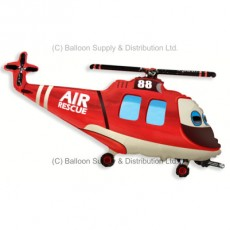 Jumbo Rescue Helicopter Shape Balloon