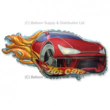 Jumbo Red Hot Car Shape Balloon