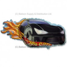 Jumbo Black Hot Car Shape Balloon