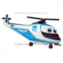 Jumbo Police Helicopter Shape Balloon