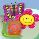 Flowers Insects Foil Balloons